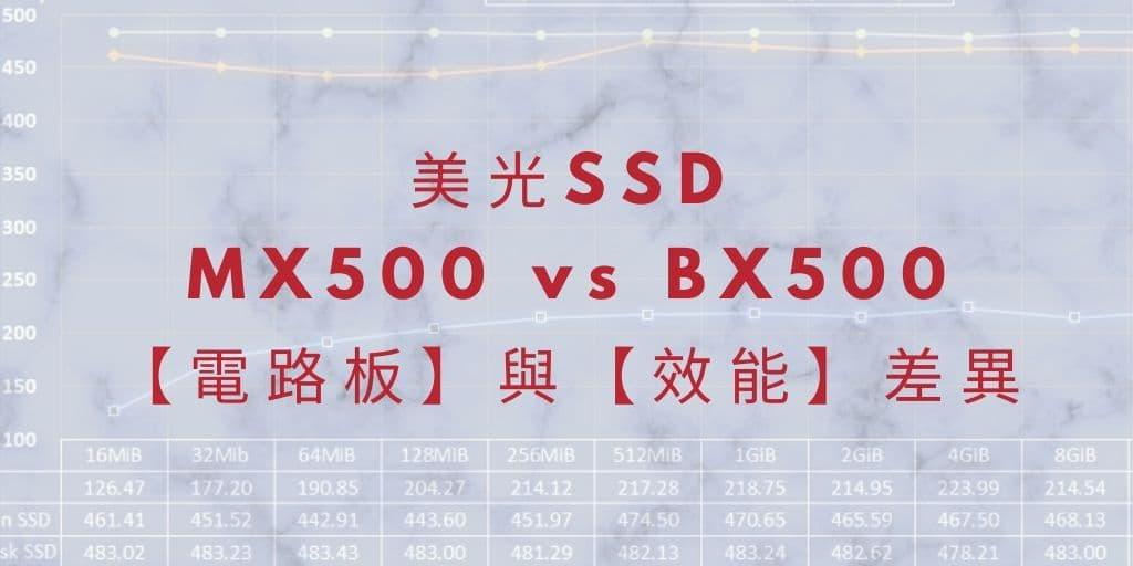 MX500 vs BX500 : DRAM Cache對SSD的影響