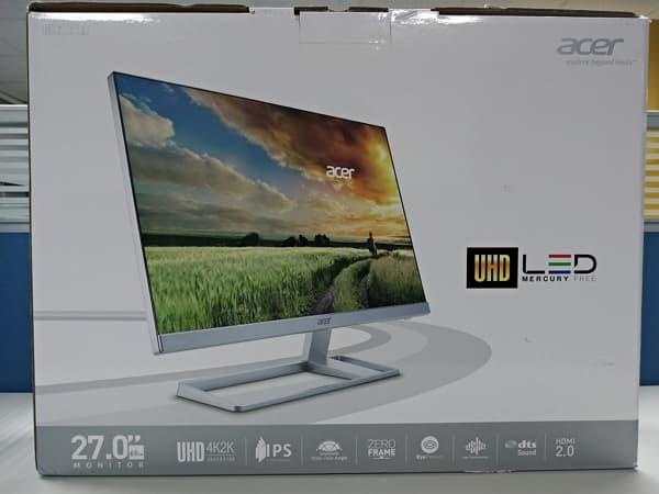 01 Acer 4K螢幕 S277HK 27型 IPS 4K2K 無邊框電腦螢幕 外盒