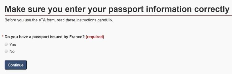 02 eTA 申請- 加拿大電子旅行證(Electronic Travel Authorization)