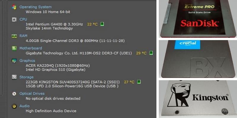 02_ SSD 4K 對齊 WIN10的效能差異 System info summary