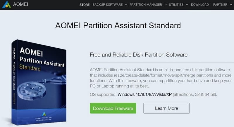 03 Acer Swift 5 SF514-52T 磁碟分割 AOMEI Partition Assistant Standard