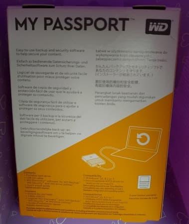 03 WD My Passport 4TB 2.5吋行動硬碟 包裝盒背面