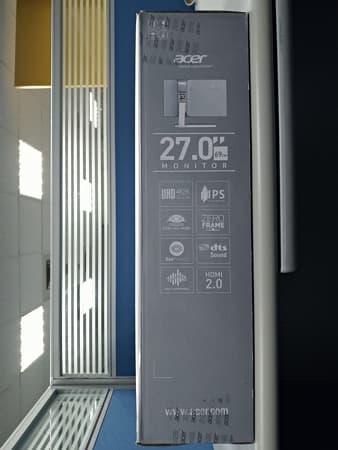04 Acer 4K螢幕 S277HK 27型 IPS 4K2K 無邊框電腦螢幕 外盒側面