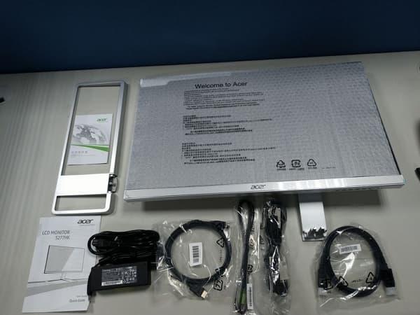 05 Acer 4K螢幕 S277HK 27型 IPS 4K2K 無邊框電腦螢幕 配件