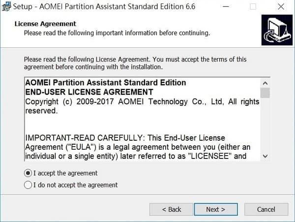 06 Acer Swift 5 SF514-52T 磁碟分割 接受合約