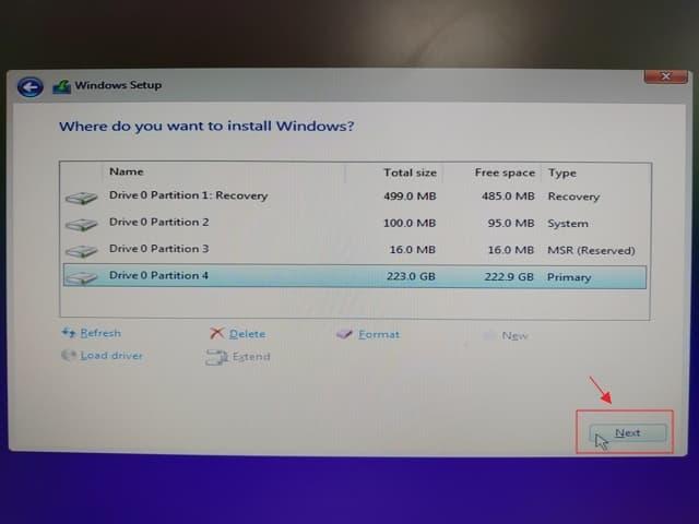 11_ SSD 4K 對齊 UEFI install win10 (7)