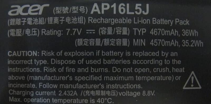 14 ACER Swift 5 SF514-52T 更換 SSD 鋰電池 規格