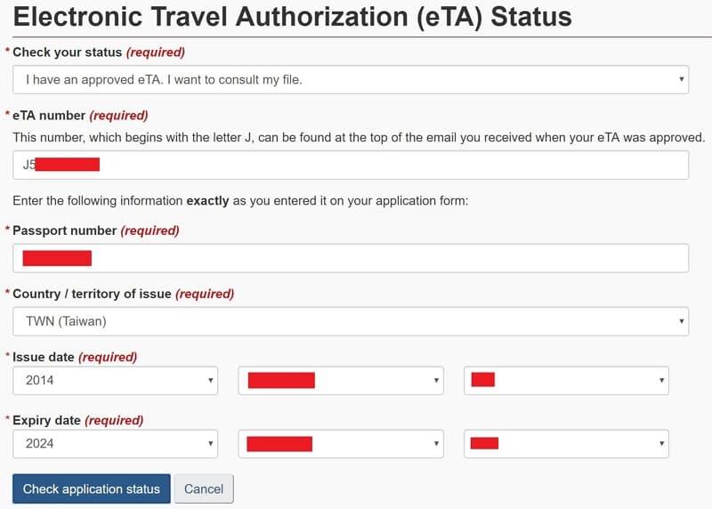 17 加拿大電子旅行證(Electronic Travel Authorization)