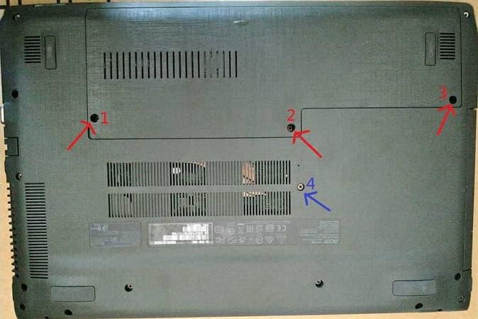 24 Acer E5-575G 拆背蓋 674x450