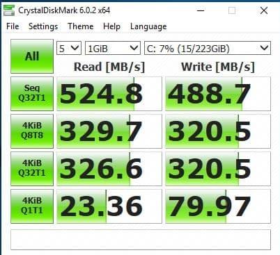 25_ Kingston SUV400S37240G CSM disable UEFI mode CrystalDiskMark performance
