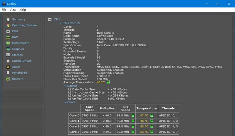 32 BIOS 選單與筆電效能測試 Lenovo Y530  Speccy CPU規格