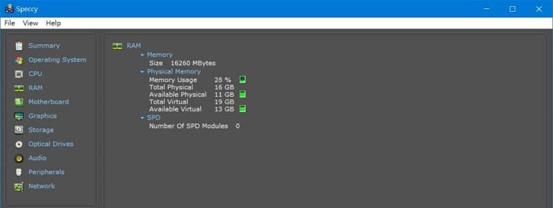 33 BIOS 選單與筆電效能測試 Lenovo Y530  Speccy DDR4規格