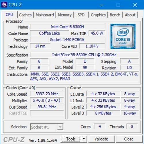 43 Lenovo Y530  CPU-Z CPU代號