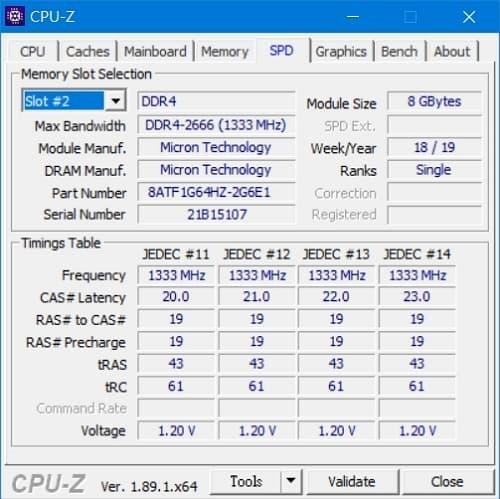 47 Lenovo Y530  CPU-Z DDR4-2666 8GB模組 1