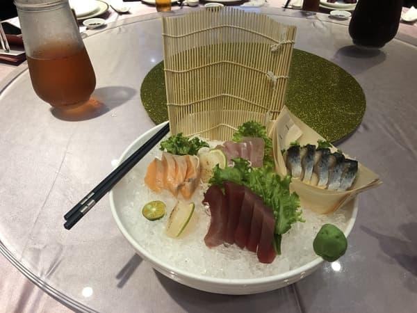 60_ 烤鴨五吃 天沁食府 干貝刺身拼盤
