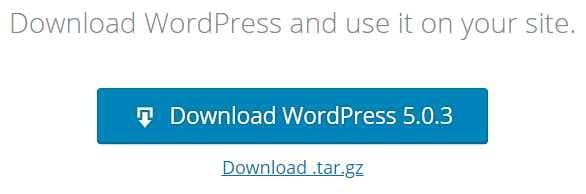 下載最新的 WordPress 檔案