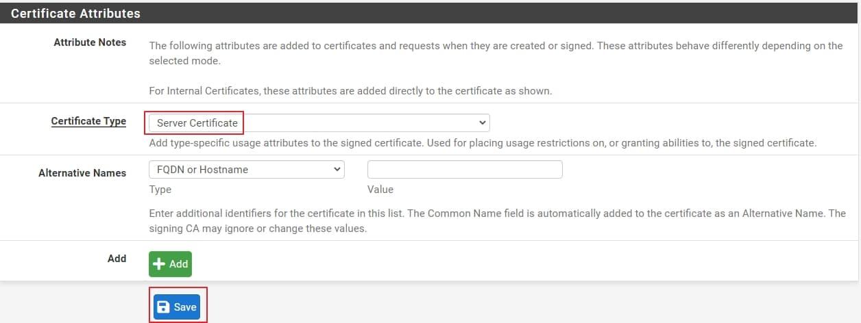 09 create openvpn server certificate