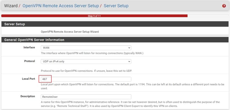 12 openvpn wizards General Server Indormation