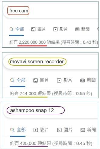 004 Ashampoo vs Movavi vs Free Cam google search