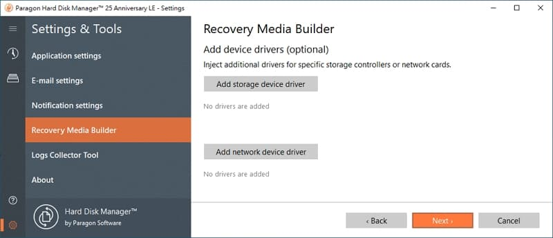 U0716-16-windows-備份-軟體-Paragon-Hard-Disk-Manager-create-recovery-media-add-device-driver