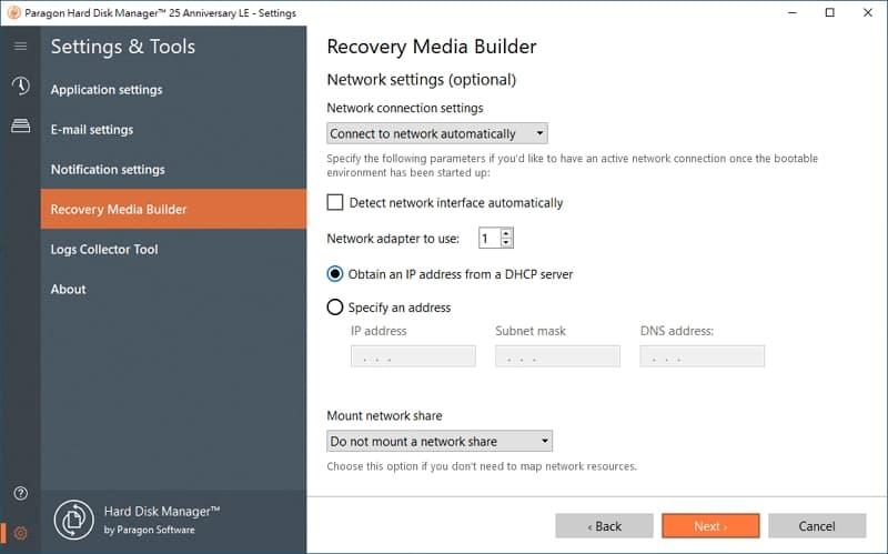 U0716-17-windows-備份-軟體-Paragon-Hard-Disk-Manager-create-recovery-media-network-setup